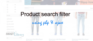 product search and filter app